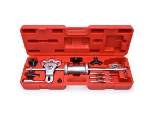 Biltek® Slide Hammer Dent Puller Oil Seal Bearing Extractor 2/3 Jaw External Internal HD New 8 Way Slide Hammer Oil Seal Bearing Puller Set Auto Mechanic Car Truck Tools
