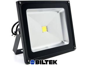 Biltek® 50W LED Flood Light Cool White High Power Outdoor Spotlights Industrial Lighting Home Security Lighting Outdoor House Business Surveillance Safety Wall Washer High Building Ad Billboard Garden
