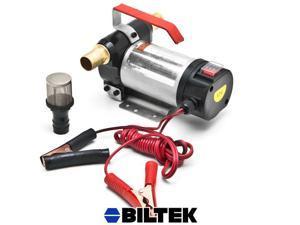 Biltek® 12 Volt Fuel Oil Transfer Pump Diesel Kerosene Biodiesel 12V DC 10.5 gpm Pumps