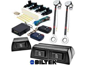 Biltek 2x Door Car Power Window + Keyless Door Unlock Kit For Chevy Astro Avalanche Aveo Bel Air Blazer Suburban