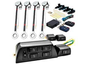 Biltek 4x Door Car Power Window + Keyless Door Unlock Kit For Isuzu / Lincoln F-Type S-Type XF XFR XFR-S XJ XJ12