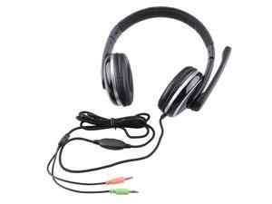 X7 3.5mm Wired Stereo Gaming Headphone Headset with Microphone Volume Controller - Black