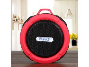 Portable Waterproof Bluetooth 3.0 Speaker Outdoor Wireless Stereo Speaker with Microphone/Sucker/Snap hook-Red + Black