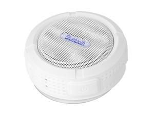 Portable Waterproof Bluetooth 3.0 Speaker Outdoor Wireless Stereo Speaker with Microphone/Sucker/Snap hook-White