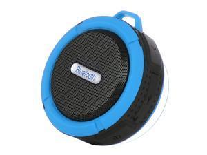 Portable Waterproof Bluetooth 3.0 Speaker Outdoor Wireless Stereo Speaker with Microphone/Sucker/Snap hook-Blue + Black