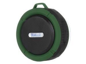 Portable Waterproof Bluetooth 3.0 Speaker Outdoor Wireless Stereo Speaker with Microphone/Sucker/Snap hook-Army Green +Black