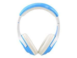 MQ44 Superb 3.5 mm On-ear Headphones with Microphone & 1.2 m Cable - White + Blue