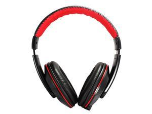 X13 Fashion 3.5mm Audio Jack Stereo Headphone w/ Mic for Smart Phone / iPod / Computer - Black + Red