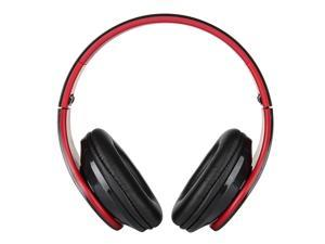 X8 Fashion Foldable Headphones w/ Mic for Smart Phone / iPod / Computer - Black + Red