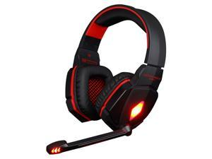 KOTION EACH G4000 Stereo Noise Cancelling Gaming Headset w/ Mic HiFi Driver LED Light for PC - Red + Black