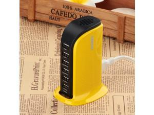 40W 6-Port Family-Sized Desktop USB Charger for iPhone, iPad Air 2, Samsung Galaxy, Nexus, HTC, Nokia and More (Yellow)
