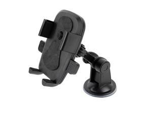 YC076 general adjustable sucker automatic lock phone holder -BLACK