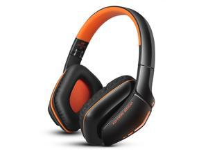 Original casque Bluetooth 4.1 Headset Cordless Headphones Wireless earphone with Microphone for mobile phone iphone samsung-ORANGE
