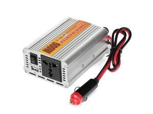 500W Car Vehicle DC 12V to AC 110V Power Inverter Adapter Converter w/ USB Port - Silver