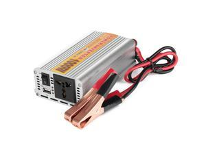 1000W Car Vehicle DC 12V to AC 110V Power Inverter Adapter Converter w/ USB Port - Silver