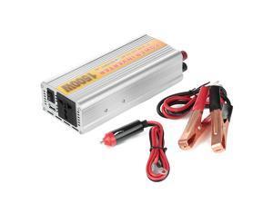 1500W Car Vehicle DC 12V to AC 110V Power Inverter Adapter Converter w/ USB Port - Silver