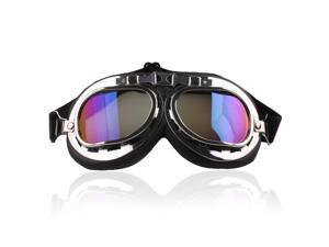 UZZO Safty Goggles Motocycle Padded Eyewear For Raf Pilot Aviator,Scooter Biker,Motocross ,Cruisers,Specially Made to Keep Sun UV, Dust And Wind Out Of Your Eyes(Colorful)