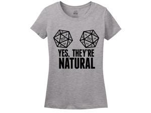Yes, They're Natural Women's T-Shirt Small Athletic Heather