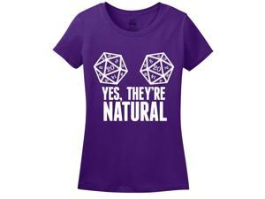 Yes, They're Natural Women's T-Shirt Medium Purple