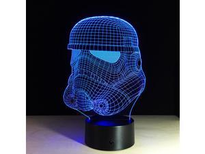 Star War Clone Troopers 3D Touch Remote Table Desk Night Light Lamp 7-Color Gradual Changing