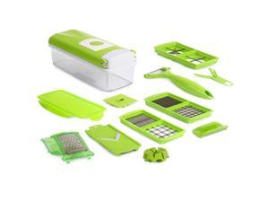EC2WORLD Vegetable Chopper Slicer Cutter and Grater - 11 In 1 Multifunctional Fruit Cheese and Onion Dicer Kitchen Cutter