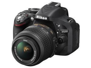 Nikon D5200 24.1 MP CMOS Digital SLR with 18-55mm f/3.5-5.6 AF-S DX VR NIKKOR Zoom Lens (Black)  International Version