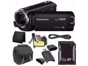 Panasonic HC-W570 HD Camcorder + 64GB SDXC Card + Mini HDMI Cable + Case + Card Reader + Card Wallet Saver Bundle