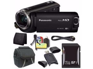 Panasonic HC-W570 HD Camcorder + 16GB SDXC Card + Mini HDMI Cable + Case + Card Reader + Card Wallet Saver Bundle