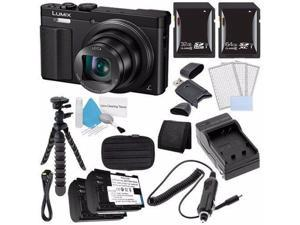 Panasonic Lumix DMC-ZS50 12.1 MP Wi-Fi GPS Digital Camera (Black) + DMW-BCM13 Battery + External Charger + 32GB SDHC Card + Saver Bundle 3 - International Version (No Warranty)