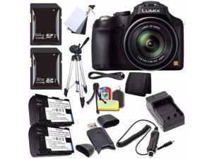 Panasonic Lumix FZ70 Digital Camera + Battery + External Charger + 32GB SDHC Card + 64GB SDXC Card + Card Reader + Saver Bundle - International Version (No Warranty)