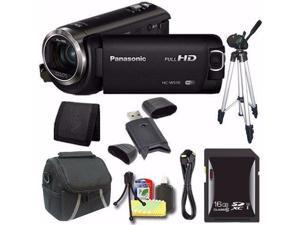 Panasonic HC-W570 HD Camcorder + 16GB SDXC Card + Tripod + Mini HDMI Cable + Case + Card Reader + Card Wallet Saver Bundle