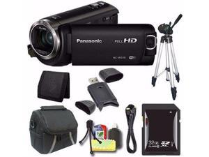 Panasonic HC-W570 HD Camcorder + 32GB SDXC Card + Tripod + Mini HDMI Cable + Case + Card Reader + Card Wallet Saver Bundle