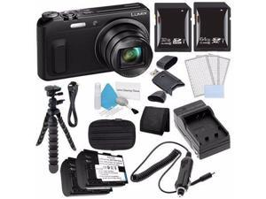 Panasonic Lumix DMC-ZS45 16 MP Wi-Fi Digital Camera (Black) + DMW-BCM13 Battery + External Charger + 32GB SDHC Card + Saver Bundle 3 - International Version (No Warranty)