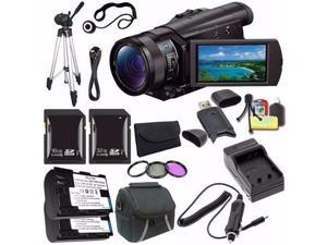 Sony HDR-CX900 Full HD Handycam Camcorder (Black) + NP-FV70 Battery + External Charger + 16GB SDHC Card + 32GB SDHC Card Saver Bundle - International Version (No Warranty)