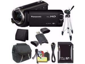 Panasonic HC-W570 HD Camcorder + 64GB SDXC Card + Tripod + Mini HDMI Cable + Case + Card Reader + Card Wallet Saver Bundle