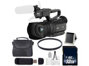 JVC GY-HM200 GYHM200 4KCAM Compact Handheld Camcorder + 32GB SDHC Class 10 Memory Card + Carrying Case + 62mm UV Filter + SD Card USB Reader + Memory Card Wallet + Deluxe Starter Kit 6AVE Bundle