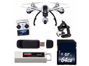 YUNEEC Q500+ Typhoon Quadcopter with CGO2-GB Camera and Steady Grip (RTF) + 32GB SDHC Class 10 Memory Card + 32GB SDHC Class 10 Memory Card + SD Card USB Reader 6AVE Bundle