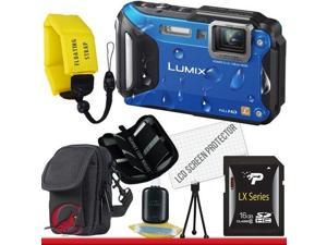 Panasonic Lumix DMC-TS5 Digital Camera (Blue) 16GB Package