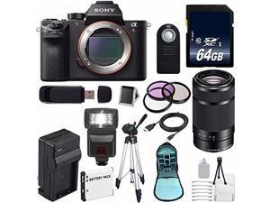 Sony Alpha a7R II Mirrorless Digital Camera (International Model ) + Sony E 55-210mm f/4.5-6.3 OSS E-Mount Lens (Black) + 49mm 3 Piece Filter Kit 6AVE Bundle 113