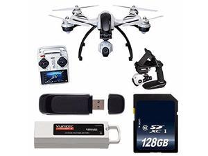 YUNEEC Q500+ Typhoon Quadcopter with CGO2-GB Camera and Steady Grip (RTF) + 64GB SDXC Class 10 Memory Card + 32GB SDHC Class 10 Memory Card + SD Card USB Reader 6AVE Bundle
