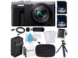 Panasonic LUMIX 4K DMC-ZS60 Digital Camera (Silver) (International Model)  + DMW-BLE9 Replacement Battery + Small Case + Charger + Mini HDMI Cable + 32GB SDHC Class 10 Memory Card Bundle