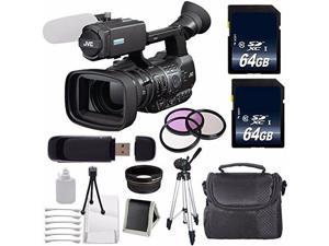 JVC GY-HM600 GYHM600 ProHD Handheld Camera Camcorder (International Model ) + 64GB SDXC Class 10 Memory Card + 72mm 3 Piece Filter Kit + 72mm Wide Angle Lens 6AVE Bundle 6