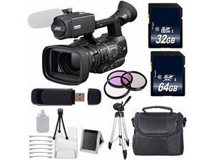 JVC GY-HM600 GYHM600 ProHD Handheld Camera Camcorder (International Model ) + 32GB SDHC Class 10 Memory Card + 64GB SDXC Class 10 Memory Card + 72mm 3 Piece Filter Kit 6AVE Bundle 2