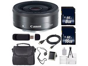 Canon EF-M 22mm f/2 STM Lens + 16GB SDHC Class 10 Memory Card + 8GB SDHC Class 10 Memory Card 6AVE Bundle 11 (International Verion)