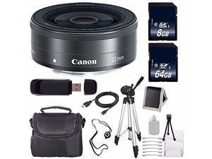 Canon EF-M 22mm f/2 STM Lens + 64GB SDXC Class 10 Memory Card + 8GB SDHC Class 10 Memory Card 6AVE Bundle 13 (International Verion)