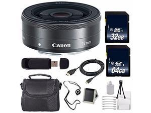 Canon EF-M 22mm f/2 STM Lens + 64GB SDXC Class 10 Memory Card + 32GB SDHC Class 10 Memory Card 6AVE Bundle 12 (International Verion)