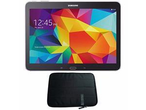 "Samsung 16GB Galaxy Tab 4 Multi-Touch 10.1"" Wi-Fi Tablet (Black) SM-T530NYKAXAR + 10.1 "" Padded Case For Tablet Bundle"