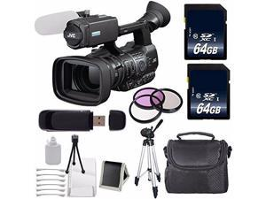 JVC GY-HM600 GYHM600 ProHD Handheld Camera Camcorder (International Model ) + 64GB SDXC Class 10 Memory Card + 72mm 3 Piece Filter Kit 6AVE Bundle 4