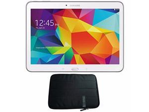 "Samsung 16GB Galaxy Tab 4 Multi-Touch 10.1"" Wi-Fi Tablet (White) SM-T530NZWAXAR + 10.1 "" Padded Case For Tablet Bundle"