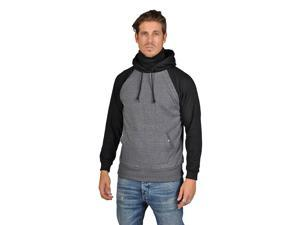 ARSNL Mens Two Tone Hooded Scarf Sweater